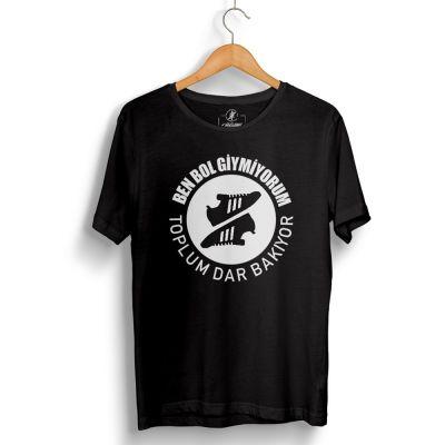 HH - Joker Toplum Dar Bakıyor Siyah T-shirt