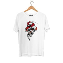 Jora - HH - Jora Snake Skull Beyaz T-shirt