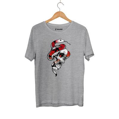 HH - Jora Snake Skull Gri T-shirt