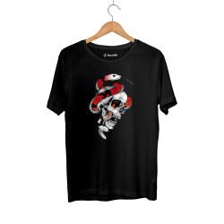 Jora - HH - Jora Snake Skull Siyah T-shirt