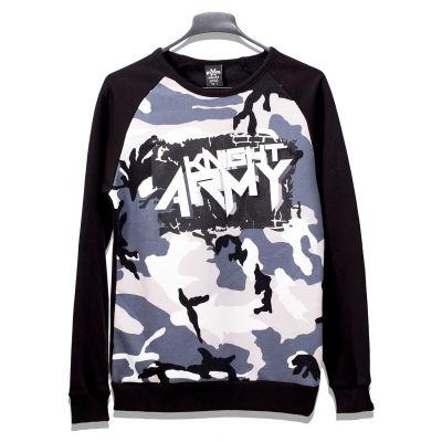 Hyper X - Hyper X - Kamuflaj Knight Siyah & Gri Sweatshirt