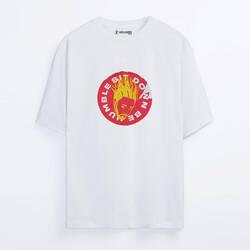 Kendrick Lamar Sticker Oversize T-shirt - Thumbnail