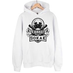 Kezzo - HH - Kezzo %100 Sokak Beyaz Hoodie