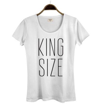 HH - Joker King Size Kadın Beyaz T-shirt