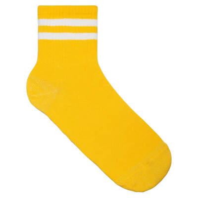SA - Beyaz Çizgili Sarı Çorap
