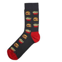 HollyHood - SA - Kırmızı Siyah Hamburger Çorap (1)
