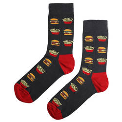 HollyHood - SA - Kırmızı Siyah Hamburger Çorap