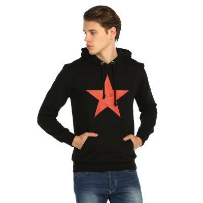 Bant Giyim - Kızılyıldız Siyah Hoodie
