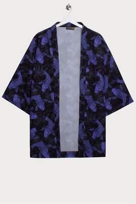 Koi Allover Baskılı Kimono