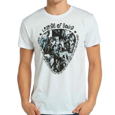Bant Giyim - Legends Of Rock Beyaz T-shirt