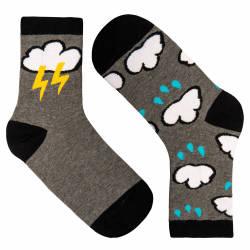 Lightning Gri Çorap - Thumbnail