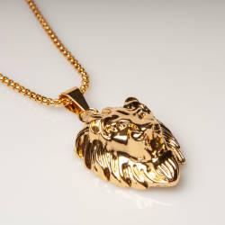 Lion Gold Kolye - Thumbnail