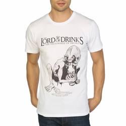 Bant Giyim - Lord Of The Drinks Beyaz T-shirt - Thumbnail