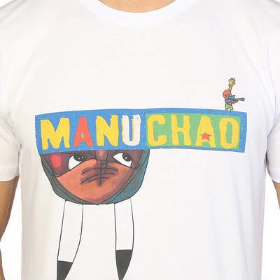 Bant Giyim - Manu Chao Beyaz Erkek T-shirt