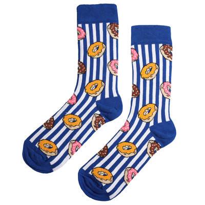 HollyHood - SA - Mavi Çizgili Donut Çorap