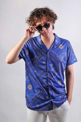 HollyHood - Mavi Zincir Desen Gömlek