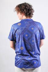 Mavi Zincir Desen Gömlek - Thumbnail