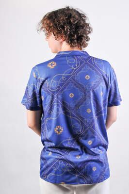Mavi Zincir Desen Gömlek