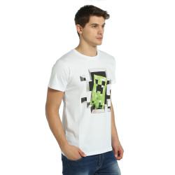 Bant Giyim - Minecraft Beyaz T-shirt - Thumbnail