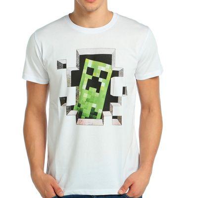 Bant Giyim - Minecraft Beyaz T-shirt