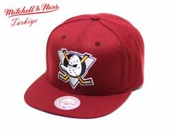 Mitchell And Ness - Mitchell And Ness Anaheim Ducks Bordo Snapback Cap Şapka