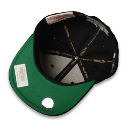 Mitchell And Ness - Boston Celtics Logo Siyah Snapback Cap - Thumbnail