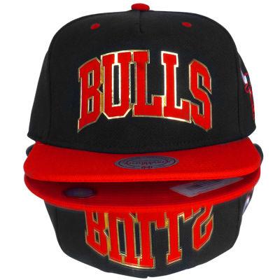 Mitchell And Ness Bulls Metal Detaylı Snapback Cap