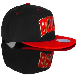 Mitchell And Ness Bulls Metal Detaylı Snapback Cap - Thumbnail