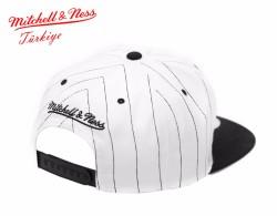 Mitchell And Ness Chıcago Bulls Siyah Çizgili Snapback Cap - Thumbnail