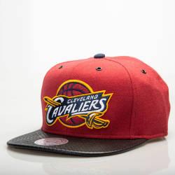 Mitchell And Ness Cleveland Cavaliers Bordo Snapback Cap - Thumbnail