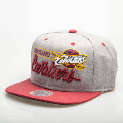 Mitchell And Ness Cleveland Cavaliers Gri Snapback Cap - Thumbnail