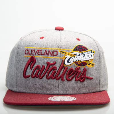 Mitchell And Ness Cleveland Cavaliers Gri Snapback Cap