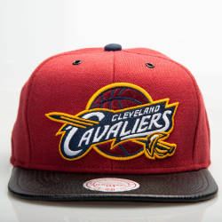Mitchell And Ness Cleveland Cavaliers Bordo Snapback Cap - Thumbnail