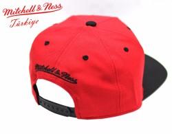 Mitchell And Ness Heat Kırmızı Metal Detaylı Snapback Cap - Thumbnail