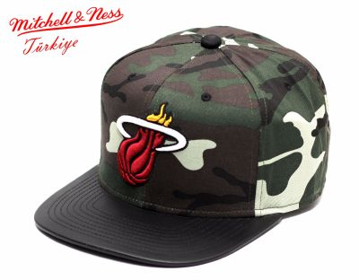 Mitchell And Ness Kamuflaj Desen Miami Heat Snapback Cap