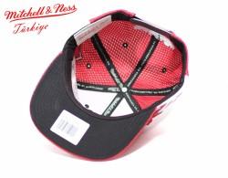 Mitchell And Ness - Kırmızı 3 Bulls Snapback Cap - Thumbnail