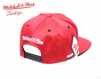 Mitchell And Ness - Kırmızı 3 Bulls Snapback Cap