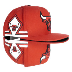 Mitchell And Ness Kırmızı Chicago 3 Bulls Snapback Cap - Thumbnail