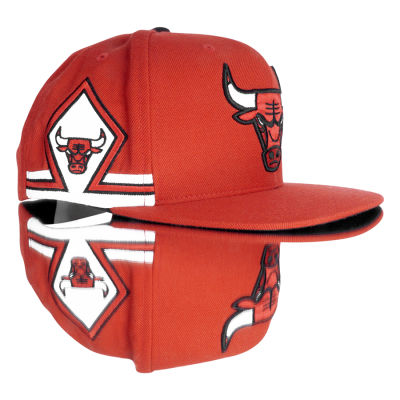Mitchell And Ness Kırmızı Chicago 3 Bulls Snapback Cap