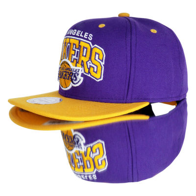Mitchell And Ness Los Angeles Lakers Sarı Ve Mor Snapback Cap Şapka
