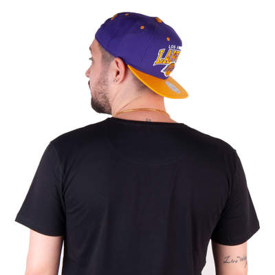 Mitchell And Ness Los Angeles Lakers Sarı Ve Mor Snapback Cap