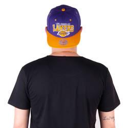 Mitchell And Ness Los Angeles Lakers Sarı Ve Mor Snapback Cap - Thumbnail