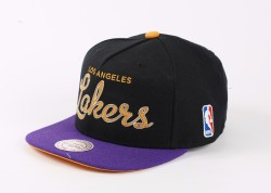 Mitchell And Ness Los Angeles Lakers Snapback Cap - Thumbnail