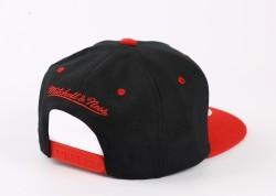 Mitchell And Ness Miami Siyah Ve Kırmızı Snapback Cap - Thumbnail
