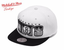 Mitchell And Ness - Nets Beyaz Snapback Cap - Thumbnail