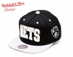 Mitchell And Ness - Mitchell And Ness - Nets Siyah Beyaz Snapback Cap