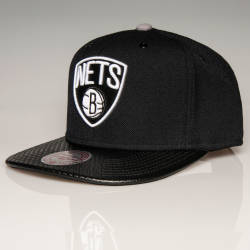 Mitchell And Ness - Mitchell And Ness - Nets B Siyah Snapback Cap