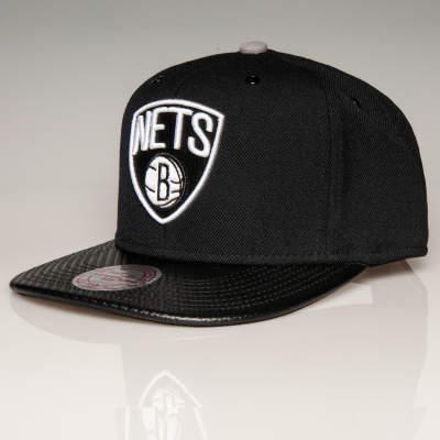 Mitchell And Ness - Mitchell And Ness - Nets B Siyah Snapback Cap