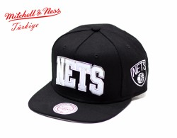 Mitchell And Ness - Nets Siyah Snapback Cap - Thumbnail