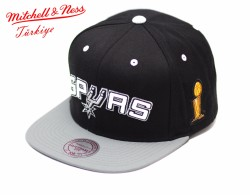 Mitchell And Ness - Mitchell And Ness Spurs Gri Ve Siyah Snapback Cap Şapka